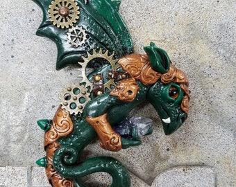 Dragon magnet, green