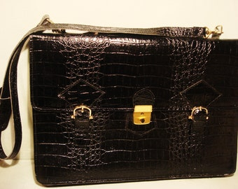 Vintage 1990s Black Portfolio Briefcase