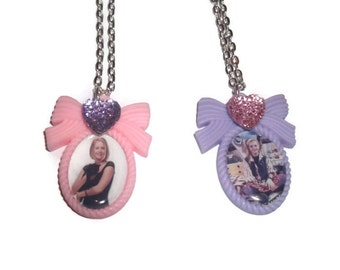 Melissa Joan Hart Cameo Necklace, Sabrina the Teenage Witch or Clarissa Explains It All, Kitsch 90s