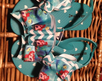 e7b614b96a2 Little Mermaid Princess Ariel Toddler Flip Flops Sizes  5 (3 left)