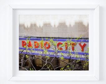 Radio City Music Hall - Manhattan photo print - New York City photography - Radio City sign - NYC art photos - Colorful bold wall decor