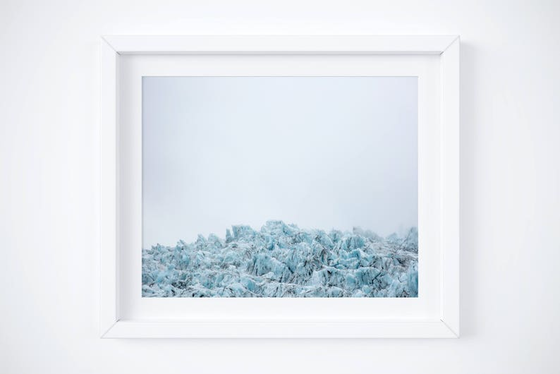 Winter Holiday gift Small wall art Travel photography 8x10 Iceland print Glacier landscape photo Nature print