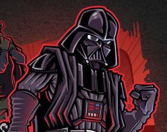 Star Wars Poster - Darth Vader Poster Print - Star Wars art