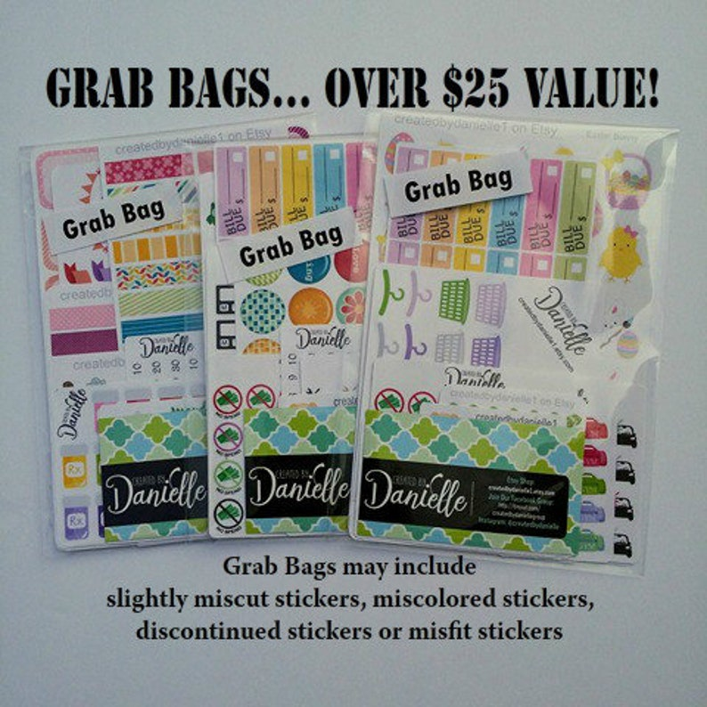 Planner Stickers Grab Bag Planner Stickers Mystery Grab Bag image 0