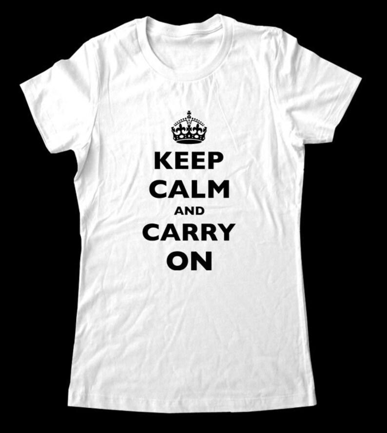 1efe7336 CUSTOM KEEP CALM T-Shirt Printed on Soft Cotton T-Shirts for | Etsy
