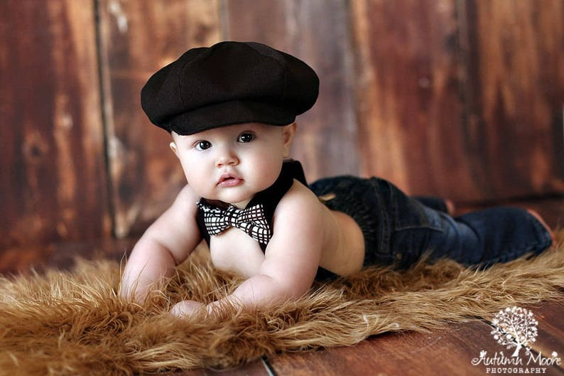 aed5866194 Baby Newsboy hat Black newsboy hat boy hat beret for