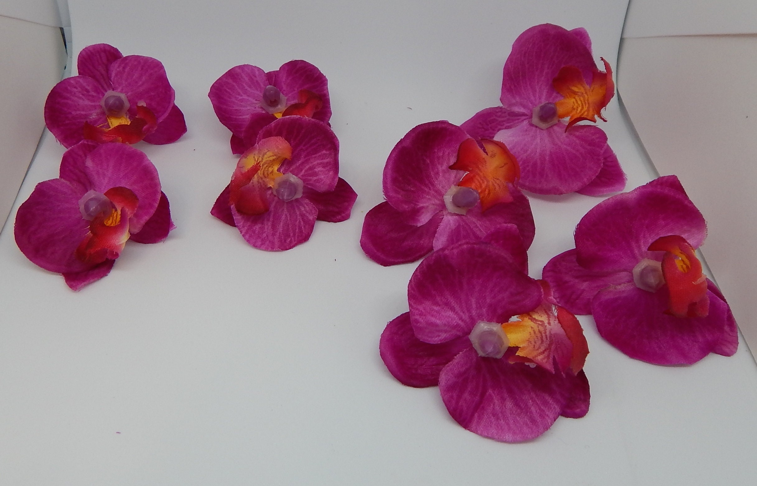 Diy Silk Flower Bright Fuchsia Orchids For Millinery 8 Etsy