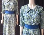 1950s summer dress with puritan collar