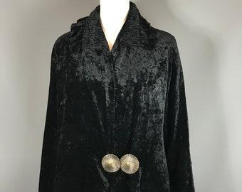 7bf99ad48bc8 1920s jacket in black velvet
