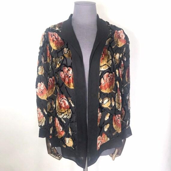 1920s jacket in silk velvet devoré