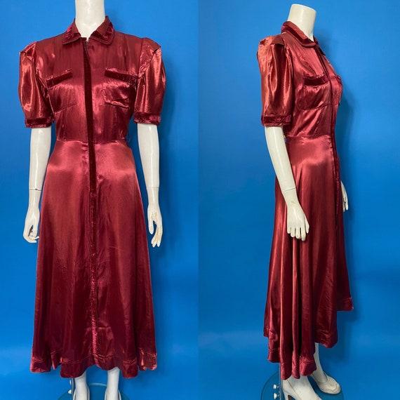 1930s zip front dress