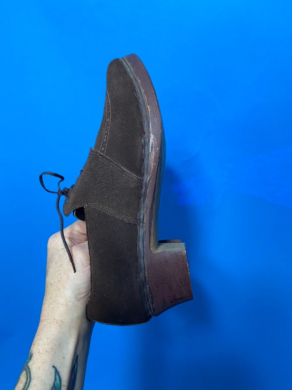 1940s shoes with wooden soles, deadstock French - image 2