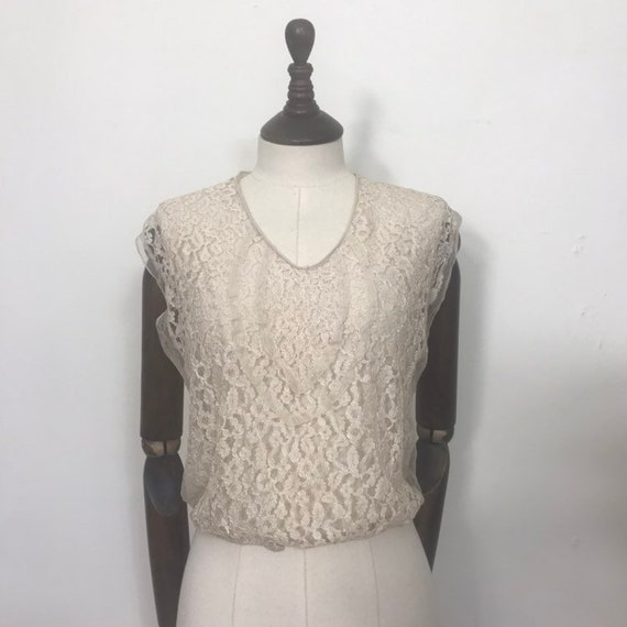 1930s lace blouse or dickie