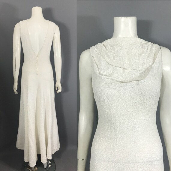 1930s backless gown with bolero - image 2
