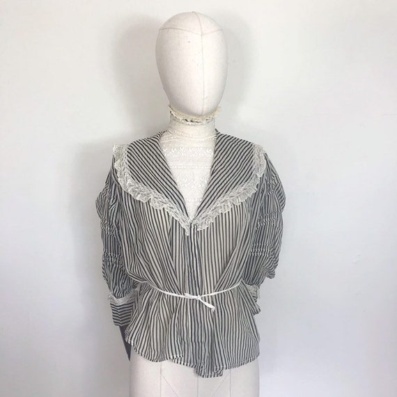 Edwardian blouse with stripes