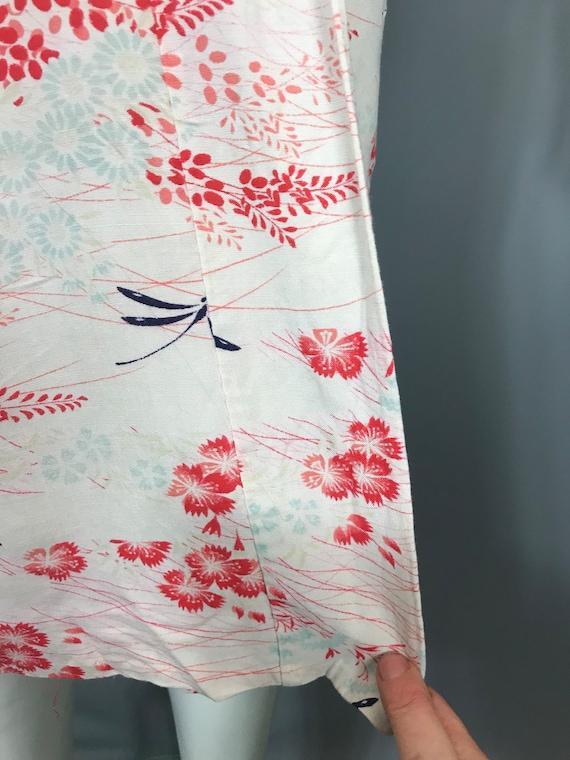 1930s kimono or yukata in floral rayon - image 8
