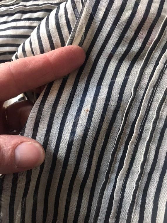 Edwardian blouse with stripes - image 8