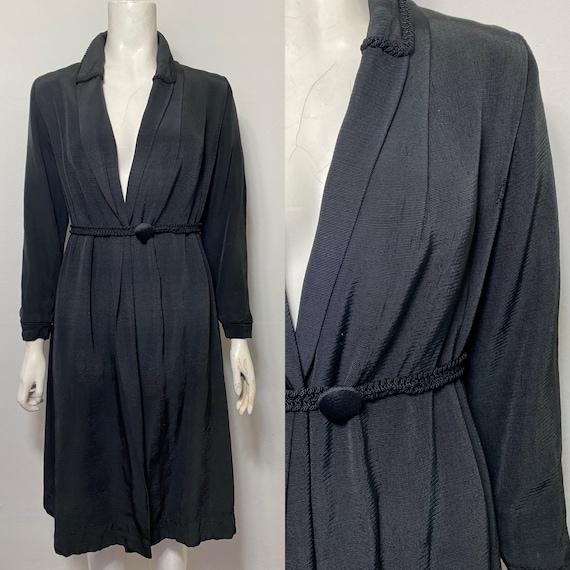 1930s grosgrain coat