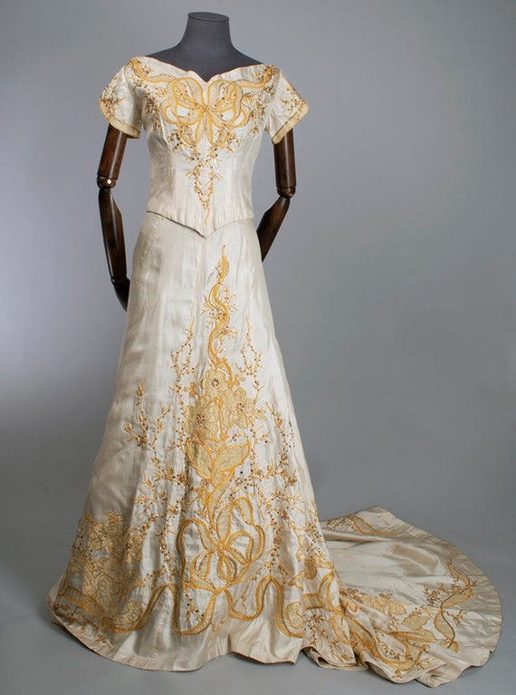 Edwardian evening dress, 30s theatre costume