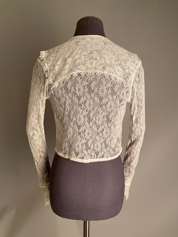 1910s lace blouse with sailor collar - image 3