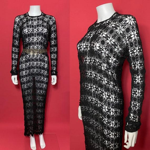 1930s crochet dress, evening dress