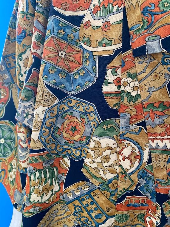 Vintage kimono with novelty print - image 9