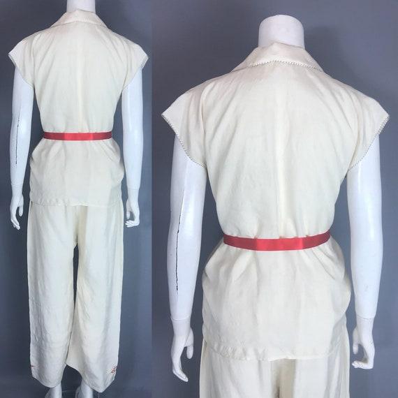 1930s silk pyjamas - image 2