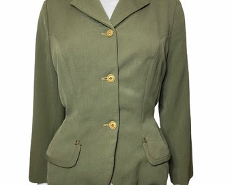 1950s olive green Hebe Sports jacket