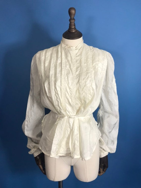 Edwardian blouse in silk