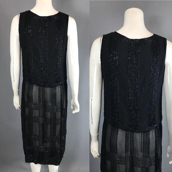 1920s beaded dress - flapper dress - image 3