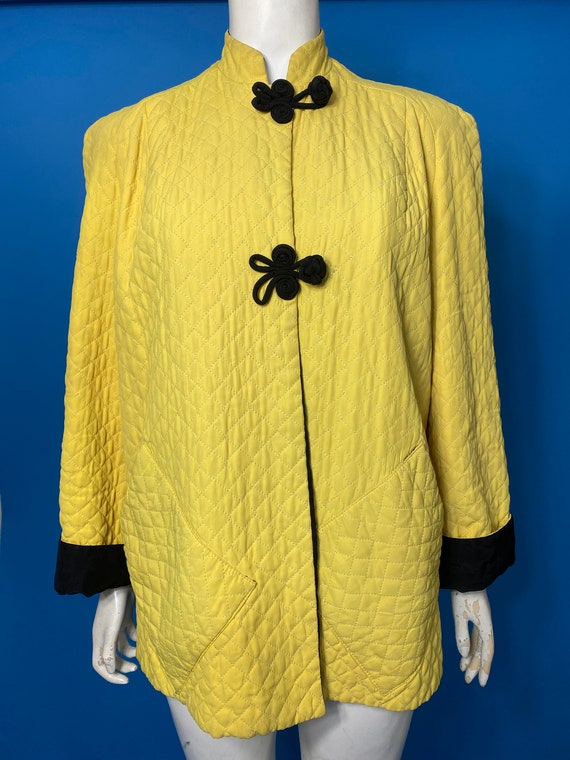 Quilted 1940s jacket in yellow