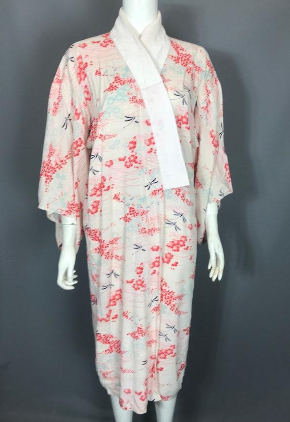 1930s kimono or yukata in floral rayon - image 2