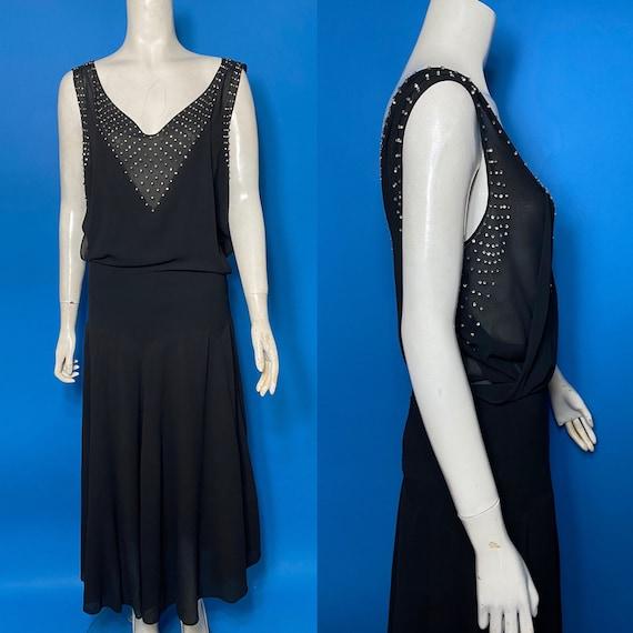 1930s evening dress with rhinestone studs
