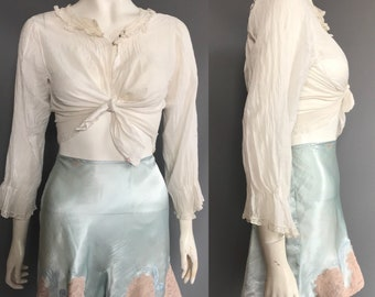 Blue 1930s tap pants/ french knickers