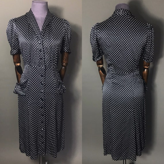 1940s dress with Polka Dots