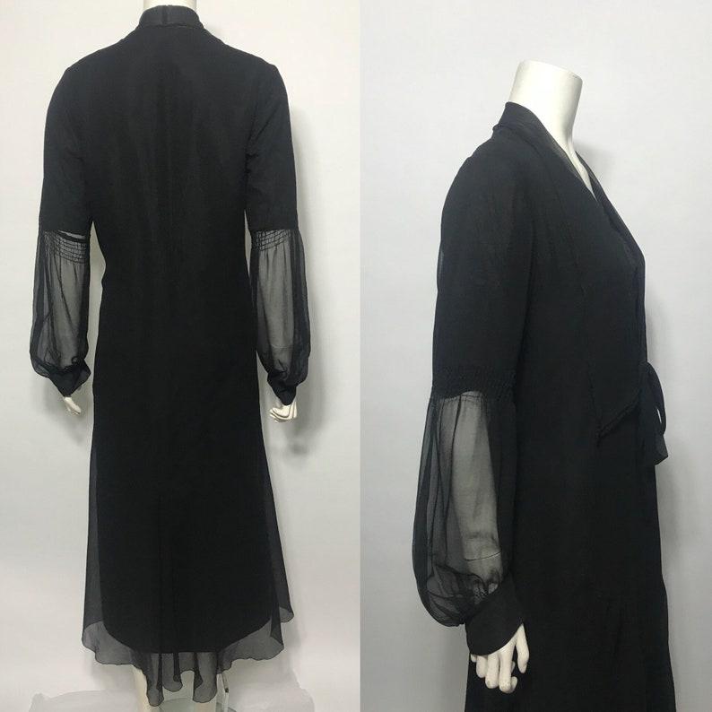 1920s dress in black chiffon a late 20s day dress