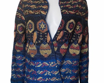 1920s jacket in embroidered quilted silk