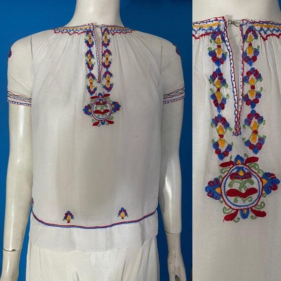 1930s Hungarian peasant blouse