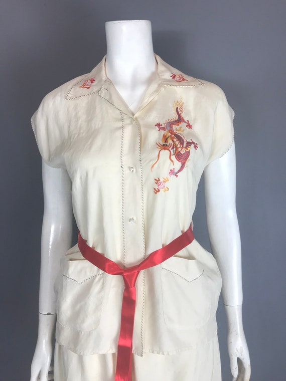 1930s silk pyjamas - image 5