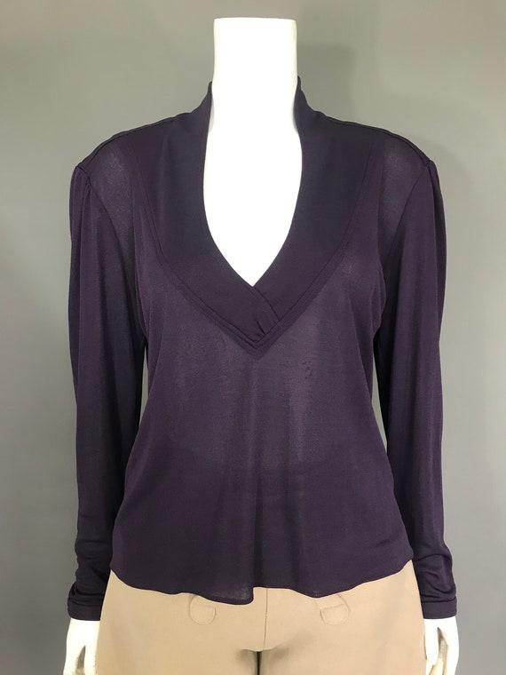 1970s Bill Gibb jersey blouse