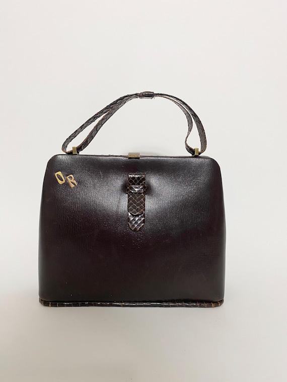 1940s handbag, monogram O R