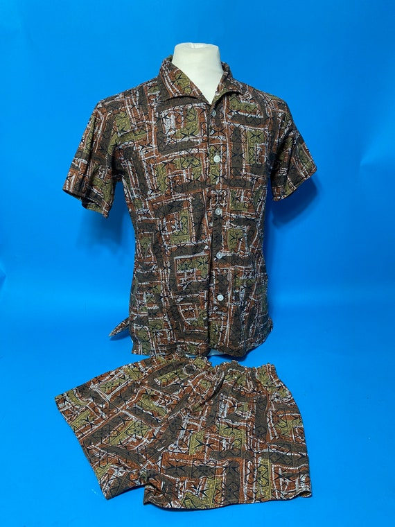1960s cabana set shorts and shirts