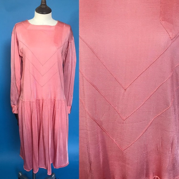 1920s day dress in rayon jersey
