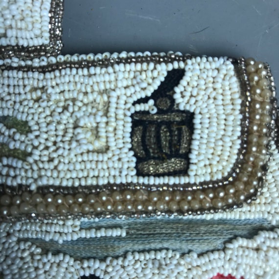 1930s beaded purse with japonism influence - image 7