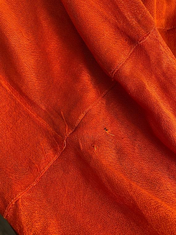 1920s devoré dress with orange underdress - image 8
