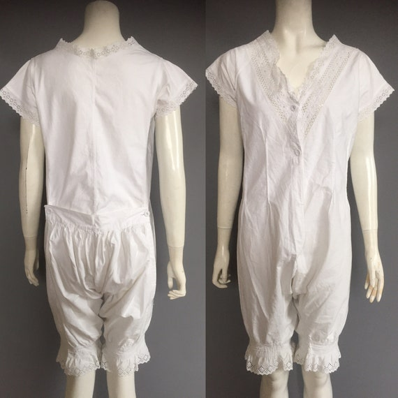 Edwardian combination underwear / drawers/ corset