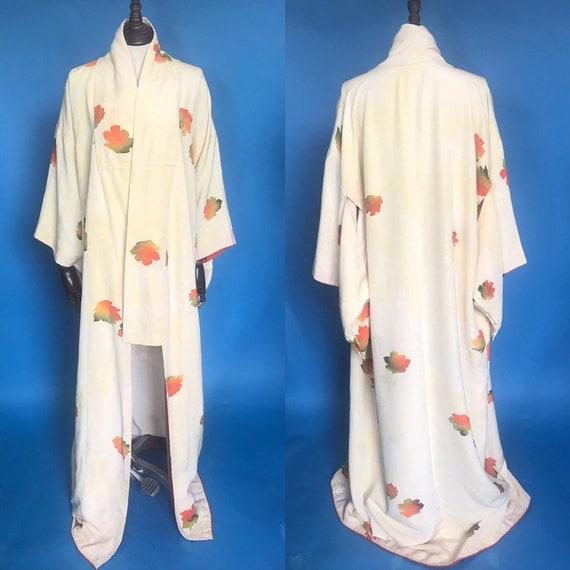 Vintage kimono, 1930s silk kimono