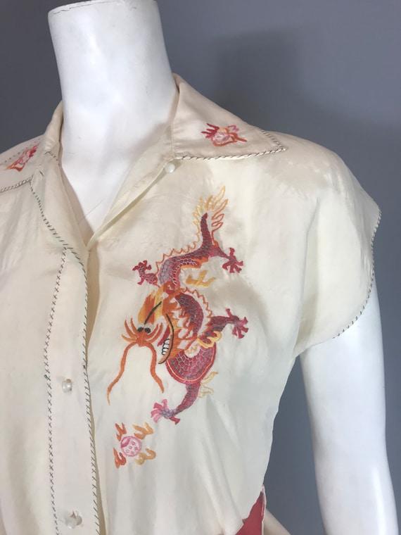 1930s silk pyjamas - image 3