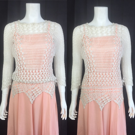 1920s crochet sweater