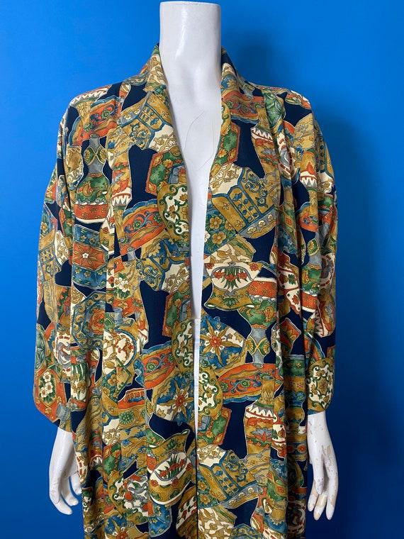 Vintage kimono with novelty print - image 8